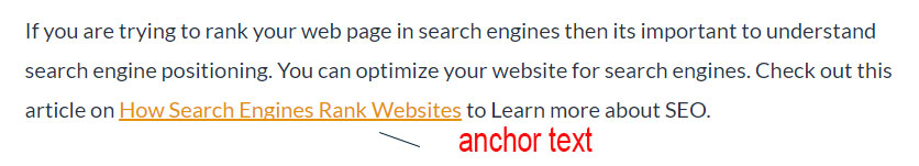 example of anchor text for search engine
